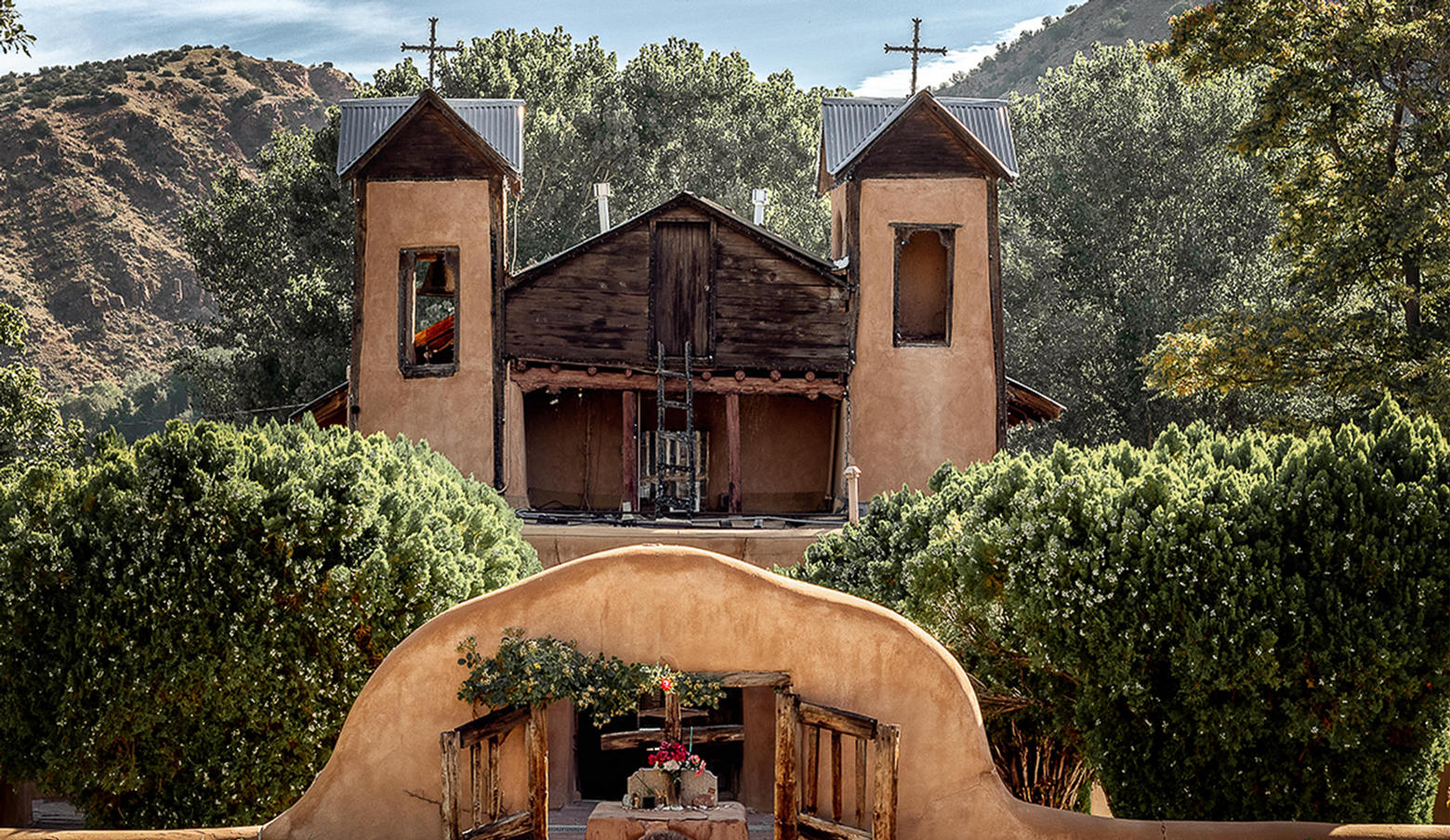 Front of Chimayo Church